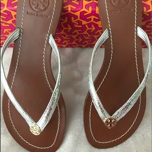 New Tory Burch sandals with box.